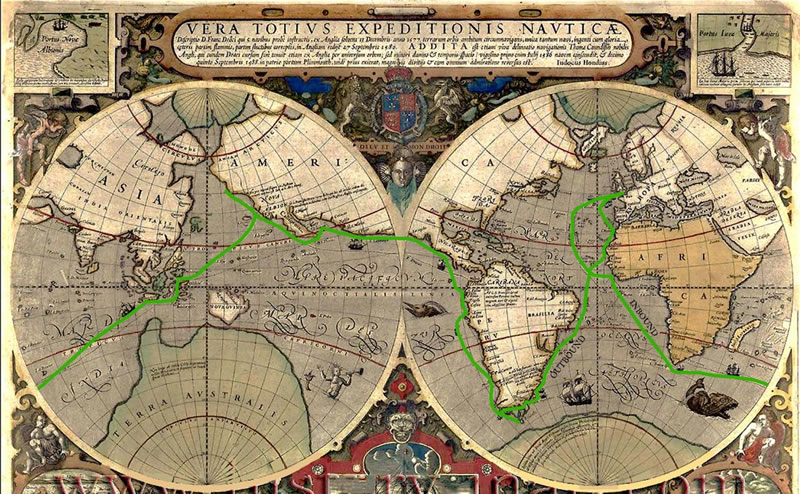 circumnavigation map